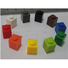 Mainan Bayi 12 Warna 120 Pcs Batu Bata 1mm * 1mm DIY Enlighten Block Kompatibel dengan International Batu Bata Merakit Bata Blok Mainan-Intl