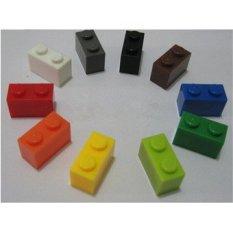Mainan Bayi 12 Warna 120 Pcs Batu Bata 1mm * 2mm DIY Enlighten Block Kompatibel dengan International Batu Bata Merakit Bata Blok Mainan-Intl