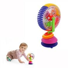 Mainan Bayi Tiga Warna Model Berputar Windmill Noria Stroller Kursi Makan dengan Pengisap Cups Mainan Bayi untuk Bayi- internasional