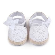 Jual Bayi Berjalan Sepatu Hollow Bow Bayi Sepatu Velcro D0668 Merah Di Bawah Harga