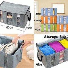 Baby Wang Storage Charcoal Besar - Tempat Penyimpanan Pakaian � Green