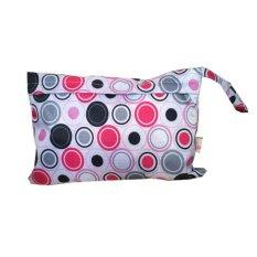 Bayi Waterproof Travel Wet Kering Storage Bag Portable Cloth Zipper Kantong Popok Pink Lingkaran-Intl