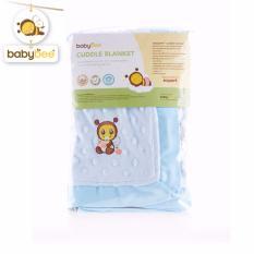 Harga Babybee Cuddle Blanket Dot Blue Bonnet Yg Bagus