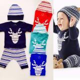 Beli Babybee Setelan Pakaian Anak Laki Laki Topi Secara Angsuran