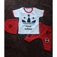 Babybee Setelan Pakaian Anak Laki Laki + Topi