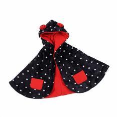 Ulasan Tentang Babycape Premium Jaket Selimut Bayi Dot Black Baby Cape By Bibbo