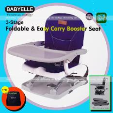 Babyelle 3-Stage Foldable Booster and Easy Carry Booster Seat - Kursi Makan Anak - Biru