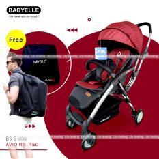 Babyelle Stroller S-939 New Avio RS With BagPack - Baby Elle - Kereta Dorong Bayi + Tas Ransel - Merah