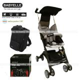 Situs Review Babyelle Stroller S350 New Reclining Astro With Bagpack Kereta Dorong Bayi Beige