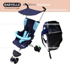Beli Babyelle Travelling Stroller New Wave With Bag Kereta Dorong Bayi Buggy Biru Online