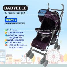 Babyelle Trevi 2 Deluxe Baby Stroller S-501- Kereta Dorong Bayi - Ungu