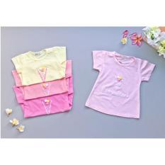 Babyfit BONO ICE CREAM Pompom 3D Bola Baju Cantik Es Krim Baju Impor Bayi Anak Murah