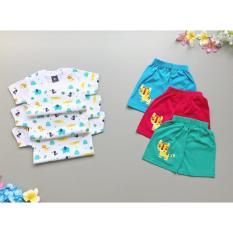 Babyfit Setelan Dino Baju Bayi Anak Baby Boy Bahan Katun Impor Casual Playsuit Baju Keren