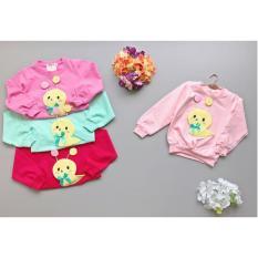 Babyfit SHASHA Siput Baby Baju Sweater Atasan Bayi Anak Perempuan Cewek Import Katun Lokal Panjang