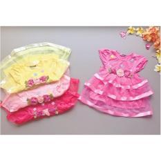 Babyfit TIGRESS FLOWER Rainbow Baju Cantik Tutu Pesta Bayi Anak Impor Murah Renda Kembang Bunga