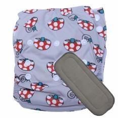 Babyland celana clodi bayi cuci ulang motif Mushroom untuk bayi berat 8 sampai 20 kg dengan 1 penyerap ompol Microfiber 3 lapis