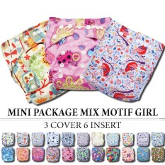 Babyland Mini Package 3 Pcs Clodi Babyland Pocket Dengan 6 Insert Microfiber 3 Ply Untuk Baby Girl By Raisa Baby Store.