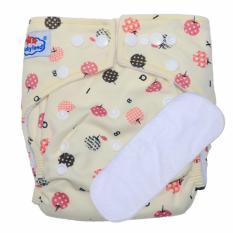 Harga Termurah Babyland Popok Bayi Cuci Ulang Motif Apple Untuk Bayi Baru Lahir Sampai 15 Kg Dengan 1 Penyerap Ompol Microfiber 3 Lapis
