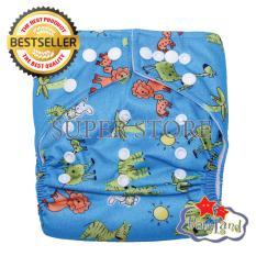 Toko Babyland Popok Bayi Cuci Ulang Pocket Motif Blue Madagaskar Dengan 1 Insert Microfiber Clodi Bayi Cloth Diapers Pampers Kain Lengkap