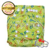 Beli Babyland Popok Bayi Cuci Ulang Pocket Motif Green Alphabet Dengan 1 Insert Microfiber Clodi Bayi Cloth Diapers Pampers Kain Online