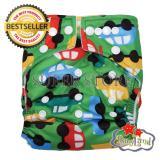 Beli Babyland Popok Bayi Cuci Ulang Pocket Motif Green Car Dengan 1 Insert Microfiber Clodi Bayi Cloth Diapers Pampers Kain Dengan Kartu Kredit