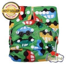 Toko Babyland Popok Bayi Cuci Ulang Pocket Motif Green Car Dengan 1 Insert Microfiber Clodi Bayi Cloth Diapers Pampers Kain Terdekat