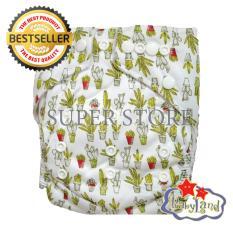 Situs Review Babyland Popok Bayi Cuci Ulang Pocket Motif Mini Cactus Dengan 1 Insert Microfiber Clodi Bayi Cloth Diapers Pampers Kain