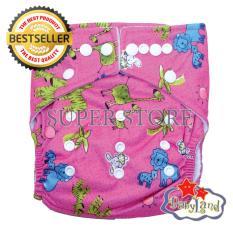 Harga Babyland Popok Bayi Cuci Ulang Pocket Motif Pink Madagaskar Dengan 1 Insert Microfiber Clodi Bayi Cloth Diapers Pampers Kain Babyland Original