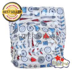 Beli Babyland Popok Bayi Cuci Ulang Pocket Motif Tea Time Dengan 1 Insert Microfiber Clodi Bayi Cloth Diapers Pampers Kain Pake Kartu Kredit