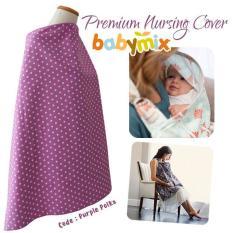 Babymix - Perlengkapan Menyusui/ Nursing Apron-Nursing Cover - Polka Ungu