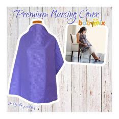 Babymix - Perlengkapan Menyusui/ Nursing Apron-Nursing Cover - Purple Polka