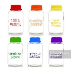 Spek Babypax Breast Milk Glass Bottle 150Ml 6 Pcs Rainbow Dki Jakarta
