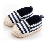 Beli Tiga Warna Baru Bayi S Striped Sepatu 0734 Biru Gelap Online Terpercaya