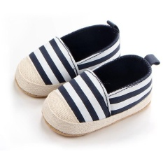 Harga Tiga Warna Baru Bayi S Striped Sepatu 0734 Biru Gelap Termurah