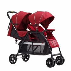 Baby's Only T2 Tandem Stroller Lightweight Double Twin Baby Kembar - Merah