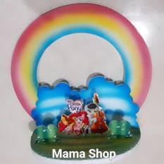 Background Kuda Poni / Hiasan Cake Figure Little Poni / Background Kue - E69ce3 - Original