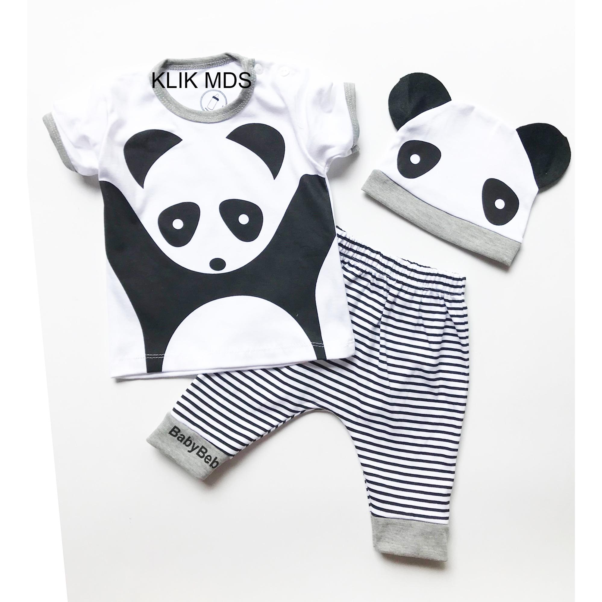 Penawaran 6 Pcs Bedong Bayi Lembut Bermotif Lucu Harga Grosir Toko Baju Karakter Anak Setelan Atasan Dan Celana Motif Panda Free Topi