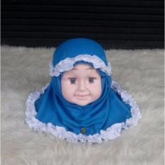 baju anakumi kerudung bayi biru