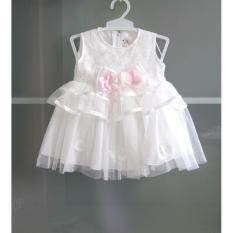 baju baby perempuan gaun anak dress bayi dress putih bayi dress pesta