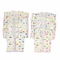 BAYIE - Baju Bayi Lengan Pendek Katun Halus isi 12 pcs motif lucu umur 3-12 bulan/pakaian bayi/baju anak laki-laki/baju anak perempuan