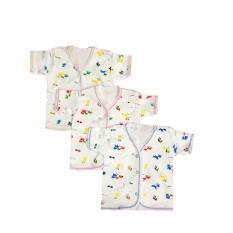 BAYIE - Baju Bayi Lengan Pendek Katun Halus isi 3 pcs motif lucu umur 3-12 bulan/pakaian bayi/baju anak laki-laki/baju anak perempuan