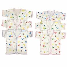 BAYIE – Baju Bayi Lengan Pendek Katun Halus isi 6 pcs motif lucu umur 3-12 bulan/pakaian bayi/baju anak laki-laki/baju anak perempuan