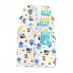 Baju Bayi LIBBY 3pcs baju Kutung ( 3-6 Bulan )