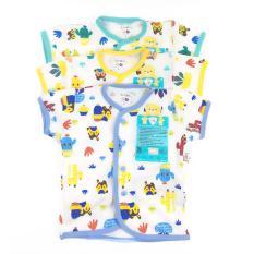 Baju Bayi LIBBY 3pcs baju Lengan pendek MOTIF ( S,M,L )