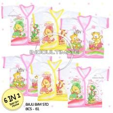 Baju Bayi Motif 6 PCS BCS-61 PEREMPUAN Lengan pendek / Pakaian Bayi / Baju