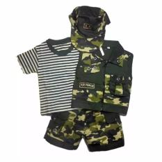Toko Baju Bayi Setelan Rompi Pisah Topi Tentara Cool Army Ukuran 4 Panjang Baju 36 Cm Lebar Dada 31 Cm Panjang Celana 30 Cm 1 5 2 5 Tahun Termurah Di Jawa Barat