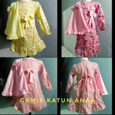 Baju Gamis Katun Anak Plus Jilbab