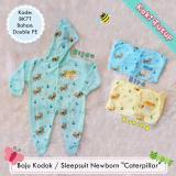 Jual Baju Kodok Sleepsuit Jumper Hoodie Bayi Newborn Motif Kaki Tutup 1 Pcs Ori