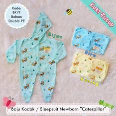 Diskon Baju Kodok Sleepsuit Jumper Hoodie Bayi Newborn Motif Kaki Tutup 1 Pcs