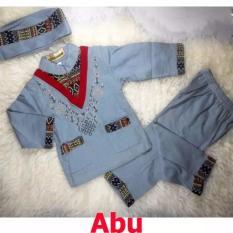 Baju Koko Bayi Setelan Baju Muslim Bayi Terlaris - Trend Wish - Abu-Abu - M - (estimasi 12-18 Bulan)